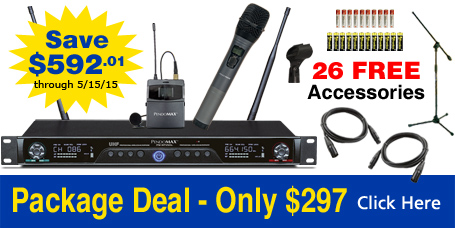 PendoMax 1000 Frequency Microphone System - Free Items with purchase