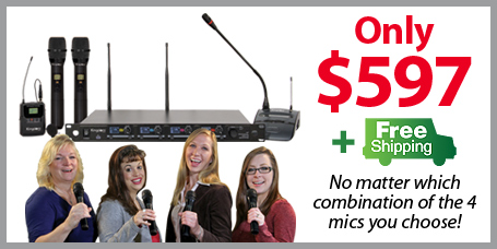 Coming Soon- New Kingdom 1000 Channel 4 Mic Wireless System