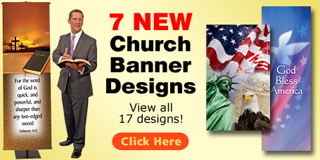 Beautiful Kingdom Banners will enhance your church services
