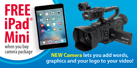 Free iPad mini with JVC 4K Camera while supplies last