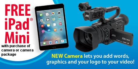 Free iPad Mini with JVC 4K Ultra HD Camera