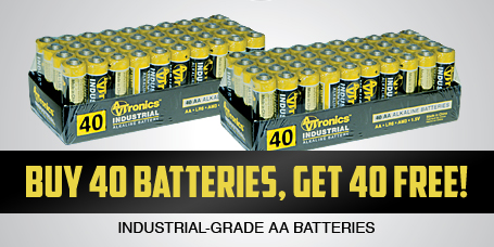 Buy One Get One FREE AA Batteries