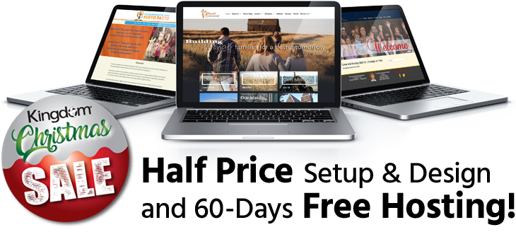 Half Price Church Websites for a limited time!
