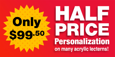 Half Price Personalization on select Acrylic Lecterns