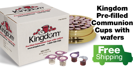 Free Shipping on Prefilled Communion Cups with Wafers