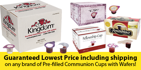 Lowest prices on Prefilled Communion Cups with Wafer