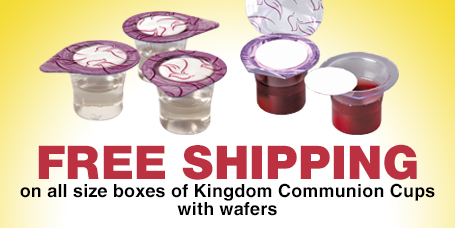 Free Shipping Kingdom Prefilled Communion Cups