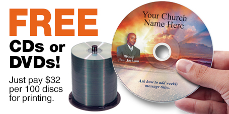 Free Printing on select Kingdom brand CDs and DVDs
