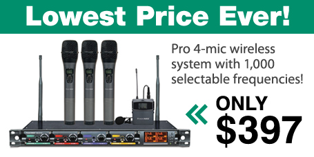 Lowest Price on Pendomax 4 Mic System Ever