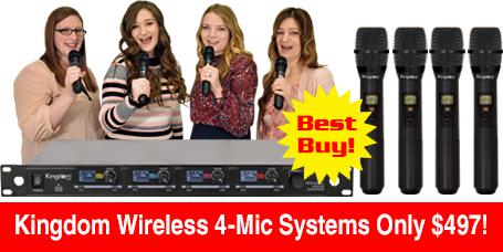 Kingdom Wireless 4-Mic Systems