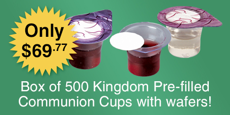 Great price on 500 Count Prefilled Communion Cups