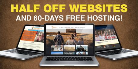 Half Off Websites and 60 Days Free Hosting