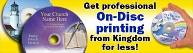 CD DVD OnDisc Printing