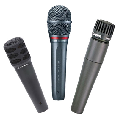 Dynamic Wired Microphones