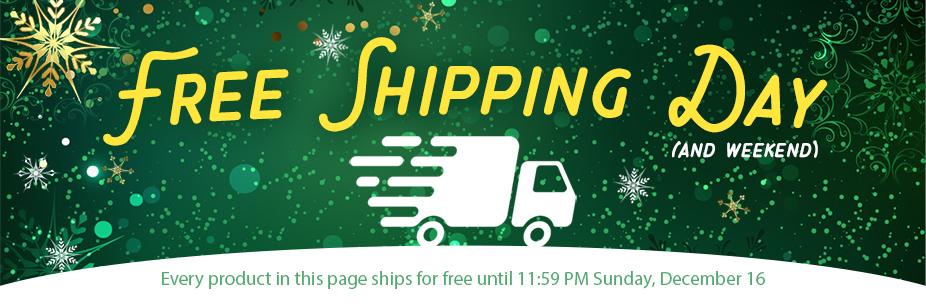 Free Shipping Weekend 2018