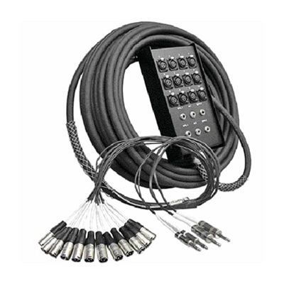 Audio Snake - 8 Microphone Channels - 100 Ft