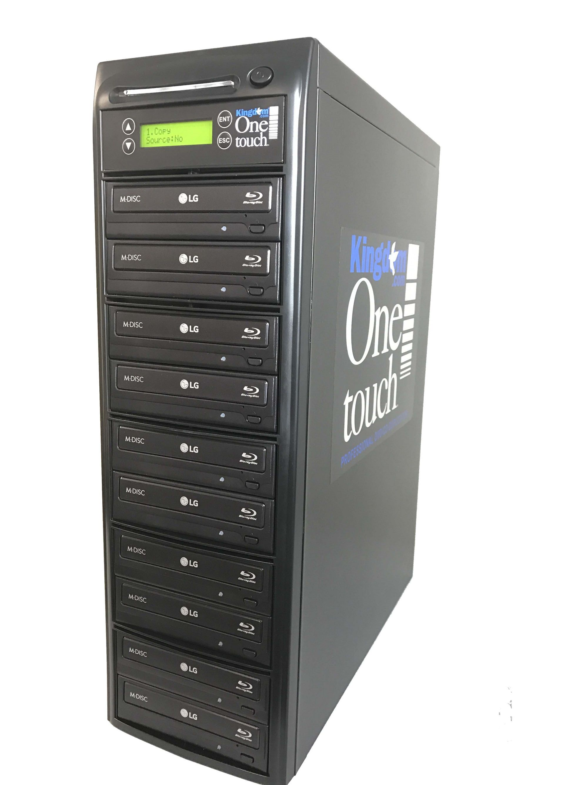 Kingdom One Touch Blu Ray Duplicator 1 Reader/ 9 Writers