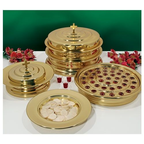 Brasstone Artistic Communion Tray Set - Serves up to 80