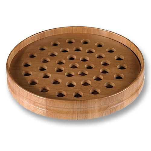 Unique Handcrafted Wooden Communion Tray - Pecan
