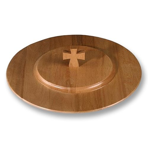 Unique Handcrafted Wooden Communion Tray Cover - Pecan