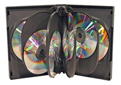 10-Disc Capacity Commercial DVD-CD Case - Black