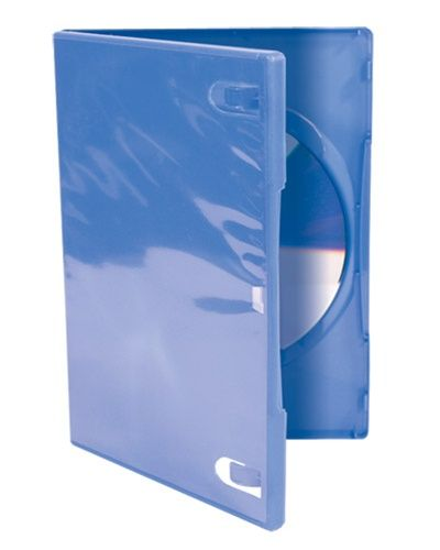 1-Disc Capacity Commercial DVD-CD Case - Blue