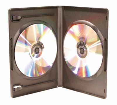 2-Disc Capacity Commercial DVD-CD Case - Black