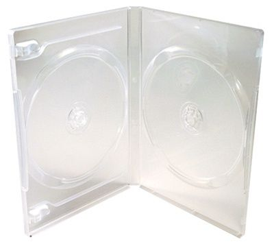 2-Disc Capacity Commercial DVD-CD Case - Clear