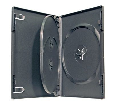 3-Disc Capacity Commercial DVD-CD Case - Black
