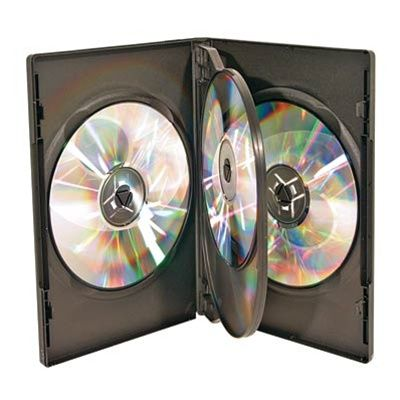 4-Disc Capacity Commercial DVD-CD Case - Black
