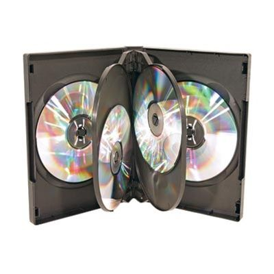 6-Disc Capacity Commercial DVD-CD Case- Black
