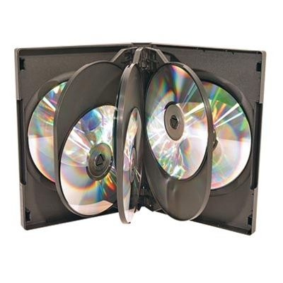 8-Disc Capacity Commercial DVD-CD Case - Black
