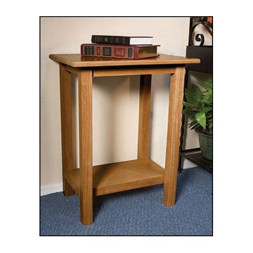 Solid Maple Offertory/Credence Table with Pecan Stain