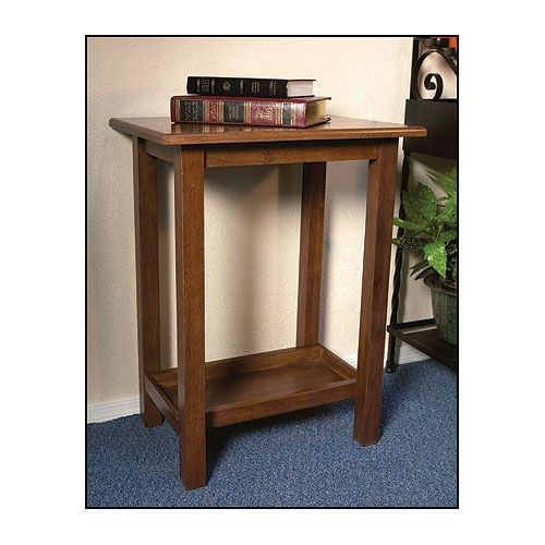 Solid Maple Offertory/Credence Table with Walnut Stain