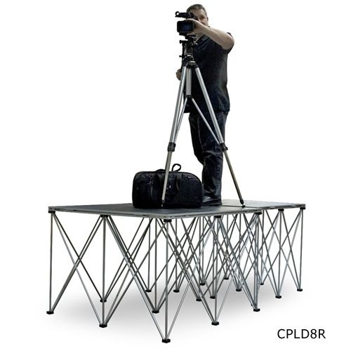 Intellistage Dual 4' x 4' Camera Platforms with 8 inch Risers