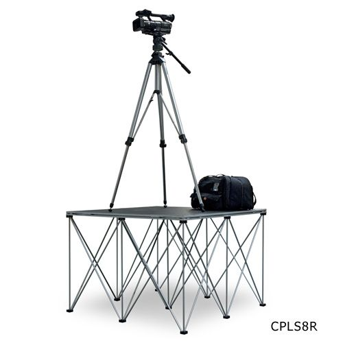 Intellistage Single 4' x 4' Camera Platform with 8 inch Riser