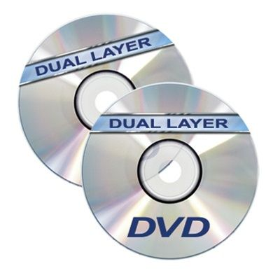 Dual Layer DVD+R in Jewel Case - Silver Thermal