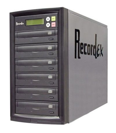 Recordex D5 - 16X DVD Duplicator Tower - 5 Copy - 120GB HD