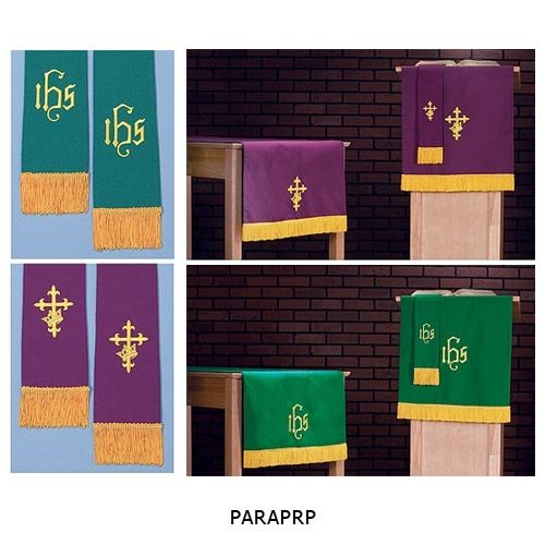 Purple & Green Reversible Parament Set