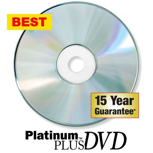 Kingdom Platinum Plus 16X Blank DVD-Rs-Silver Thermal
