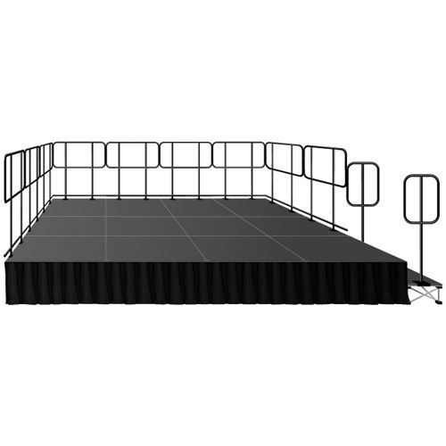 "Intellistage Portable Deluxe Stage Kit w/ 16"" Riser"