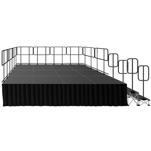 "Intellistage Portable Deluxe Stage Kit w/ 24"" Riser"