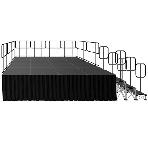 "Intellistage Portable Deluxe Stage Kit w/ 32"" Riser"