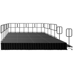 "Intellistage 12' x 24' Portable Deluxe Stage Kit w/ 16"" Riser"