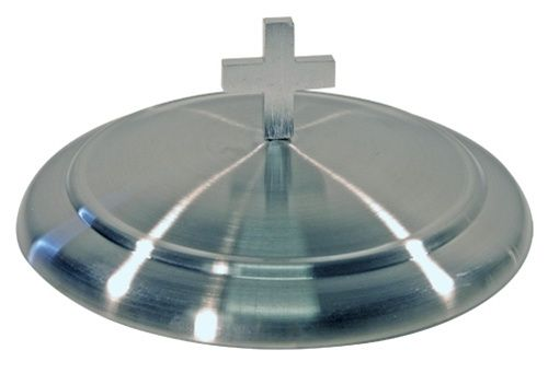 Communion Bread Plate Cover - Stainless Steel - 6.5""