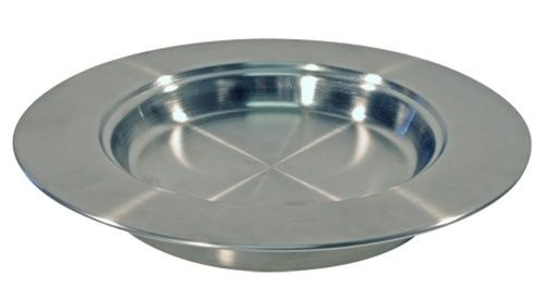 Communion Stacking Bread Plate - Stainless Steel - 10""
