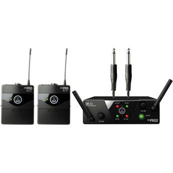 AKG WMS 40 Mini2 Dual Wireless System - 2 Instrument Microphones