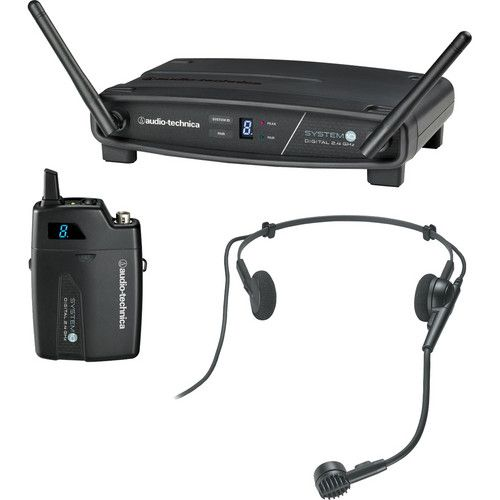 Audio-Technica System 10 Digital Wireless Headworn Dynamic Microphone Set