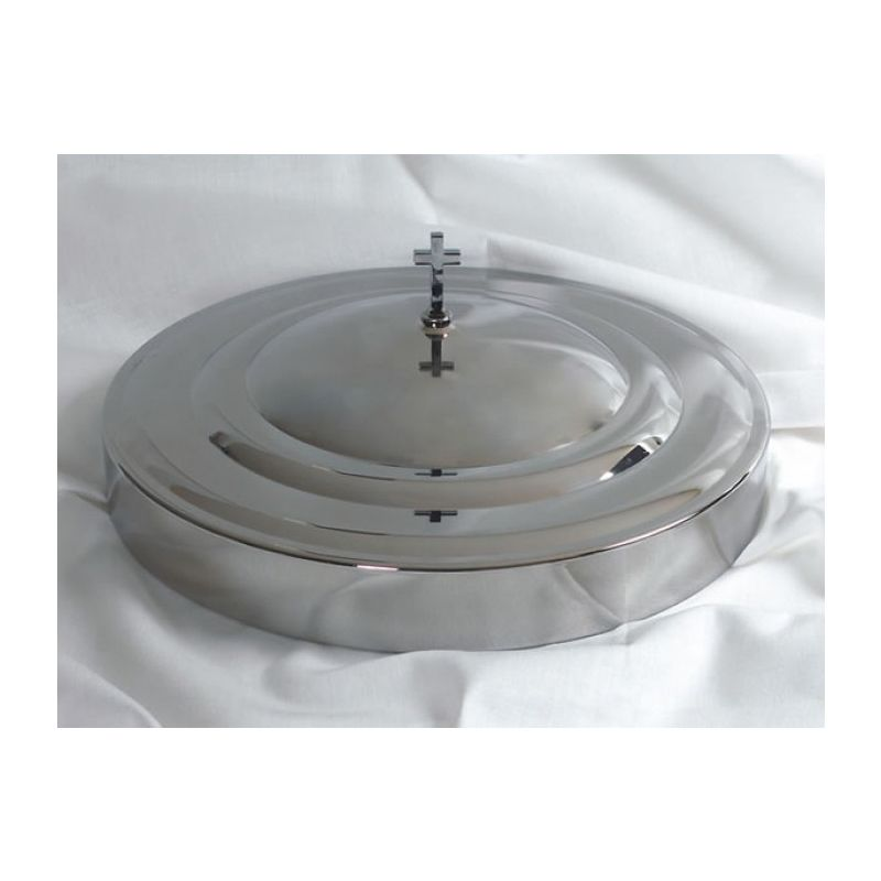 Stainless Steel Communion Tray Cover - Silvertone