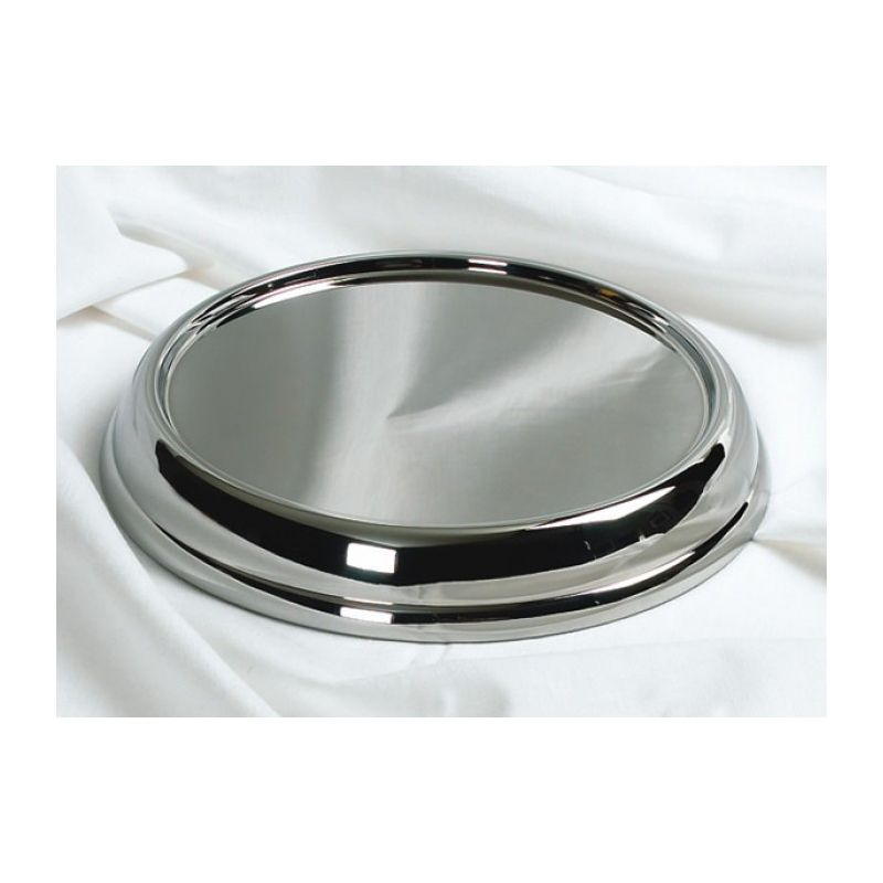 Stainless Steel Communion Tray Base - Silvertone